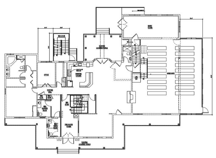 108 Hillcrest blueprints 1st floor